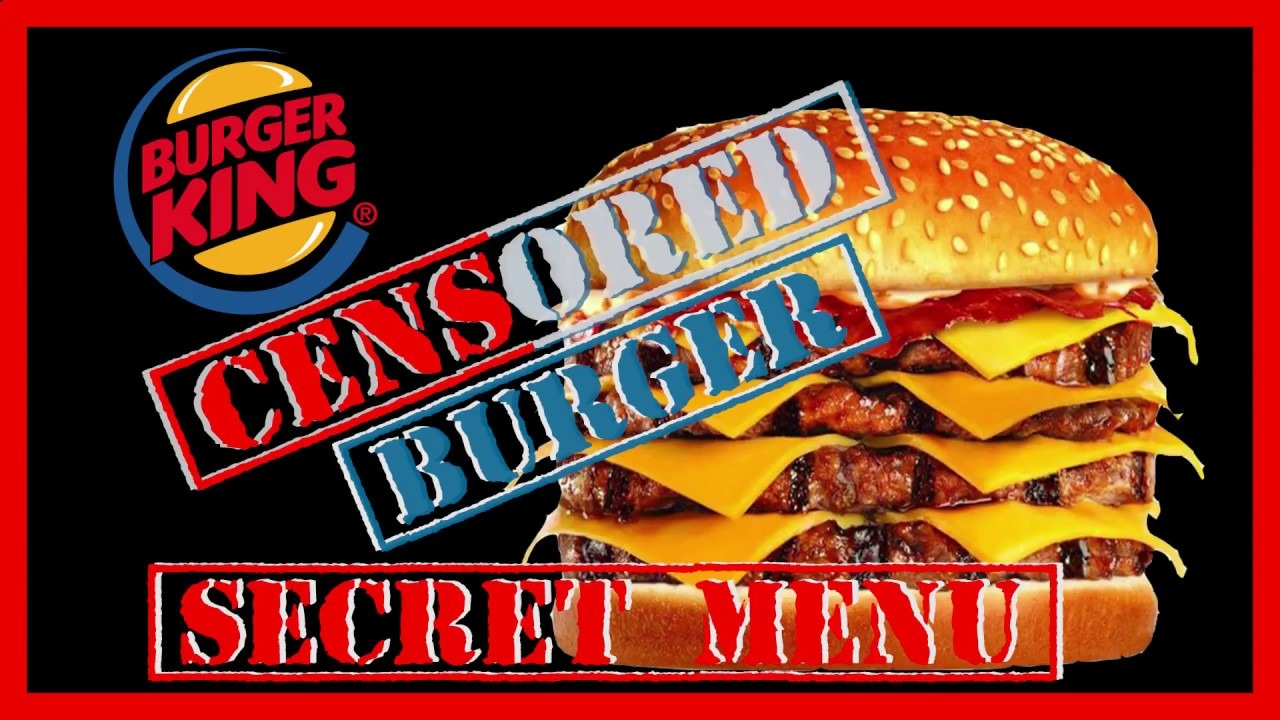 The Full List Of Burger King Secret Menu Items You May Order!!